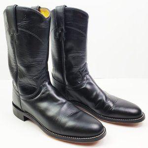 Justin Boots Cora Women's Black Leather 6.5 B